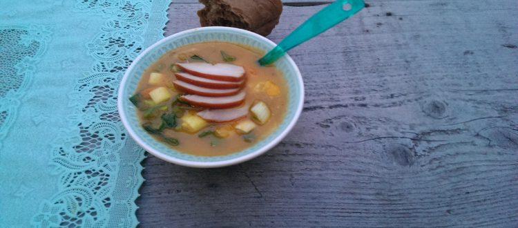 Op Mix Erf - Hemels gerechten - Wendy Phaff - groentesoep als maaltijd met gerookte kipfilet